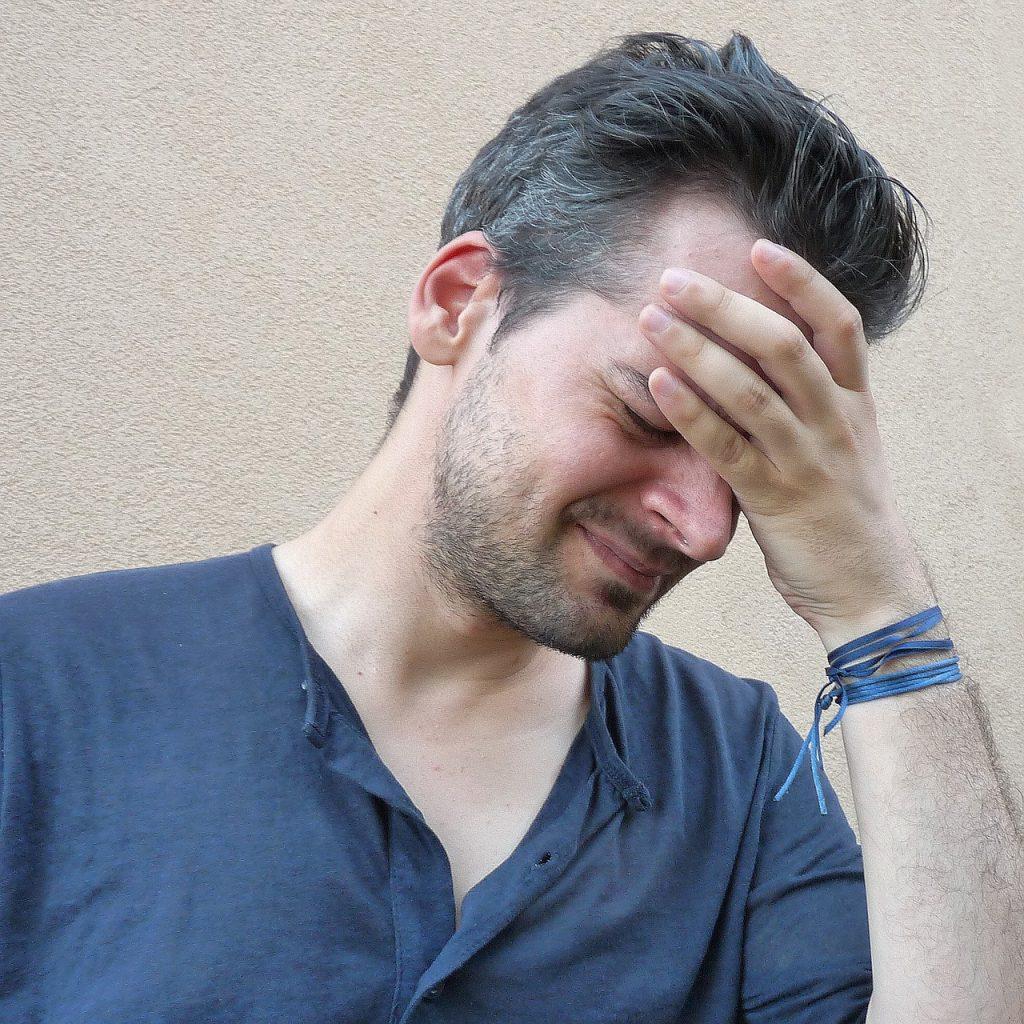 Headache Stressed Man Person Man Stress Image